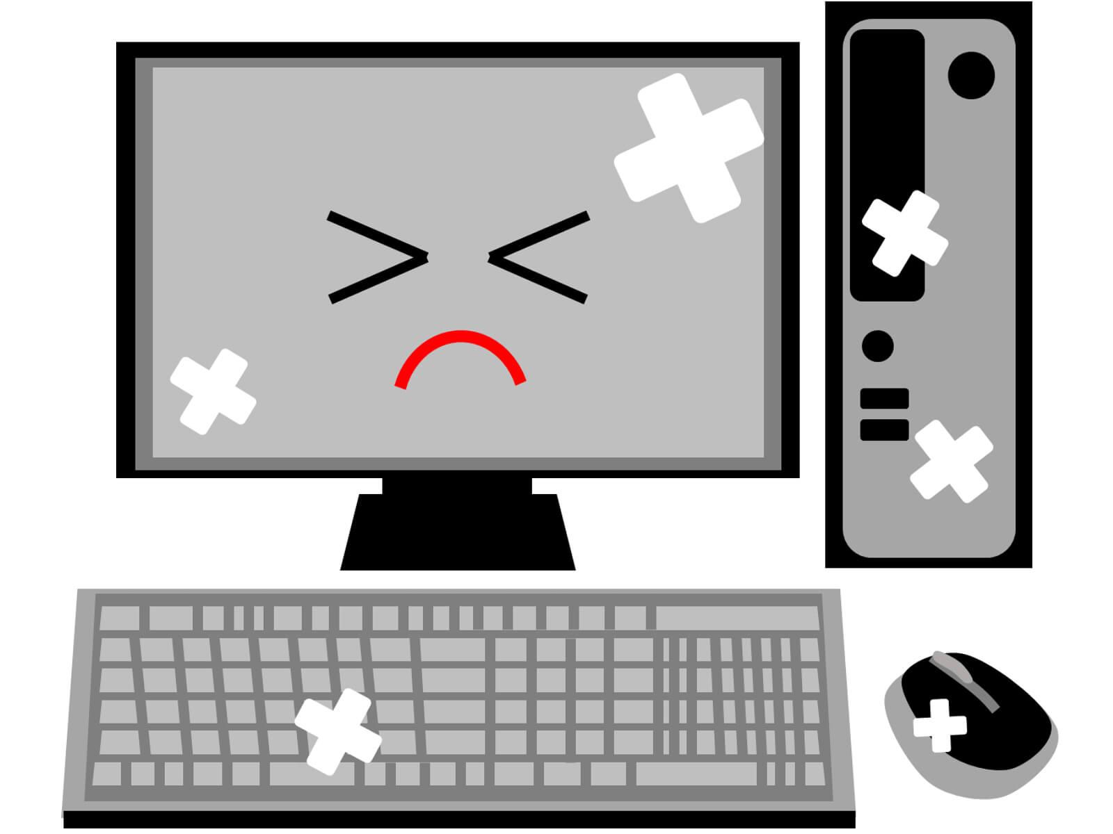 パソコンが停電のダメージを受けた場合は?