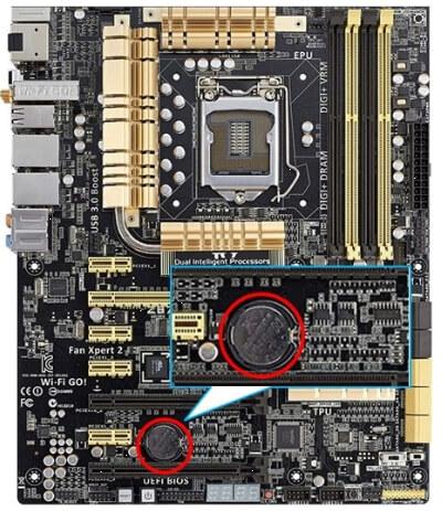 デスクトップパソコンのCMOS電池