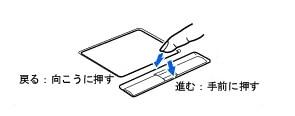 パソコンのタッチパッドでスクロールする方法-5