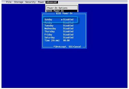 特定時間にパソコンを起動させる-2