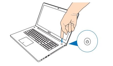 ノートパソコン電源の入れ方