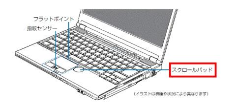 パソコンのタッチパッドとスクロール操作について-1