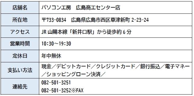 パソコン工房 広島商工センター店  店舗情報