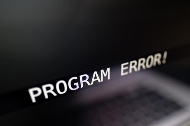 プログラムの不具合