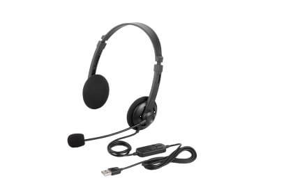 BUFFALO 両耳ヘッドバンド式ヘッドセット USB接続 BSHSUH12BK