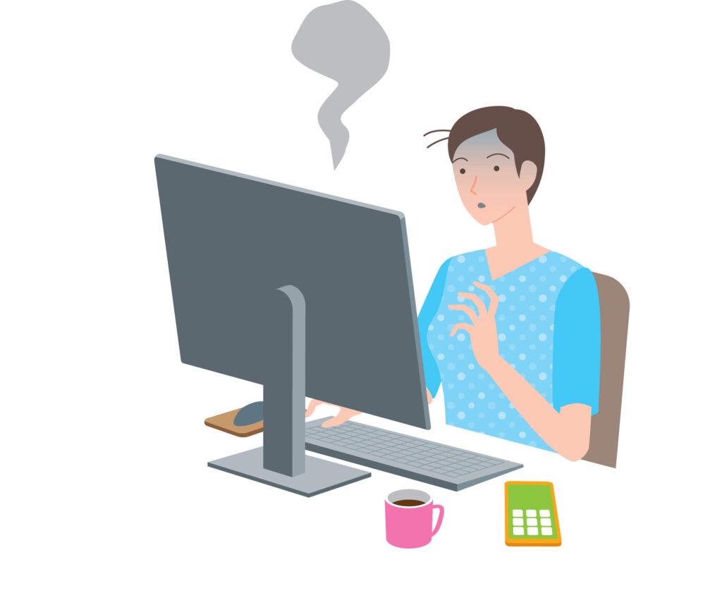 パソコンがフリーズする